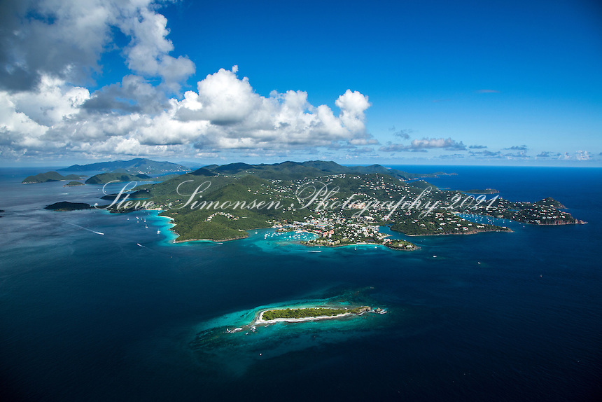 Aerial view of St. John<br />