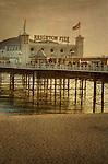 Brighton Pier with Union Jack flags