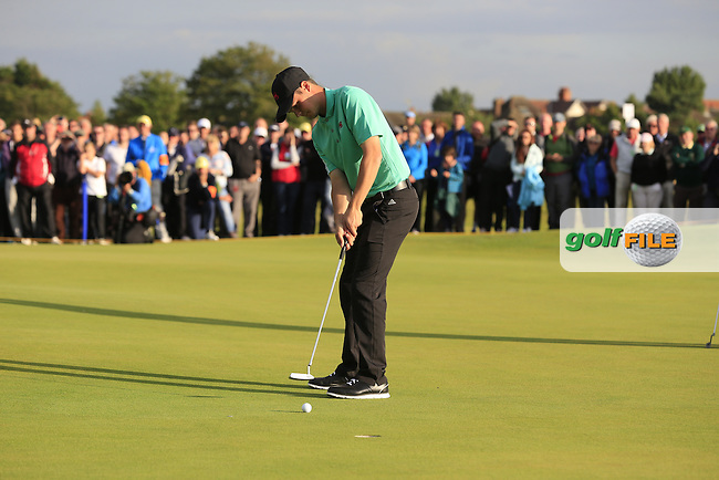 Jack McDonald (SCO) during the afternoon singles for the Walker cup Royal Lytham St Annes, Lytham St Annes, Lancashire, England. 13/09/2015<br /> Picture Golffile | Fran Caffrey<br /> <br /> <br /> All photo usage must carry mandatory copyright credit (&copy; Golffile | Fran Caffrey)