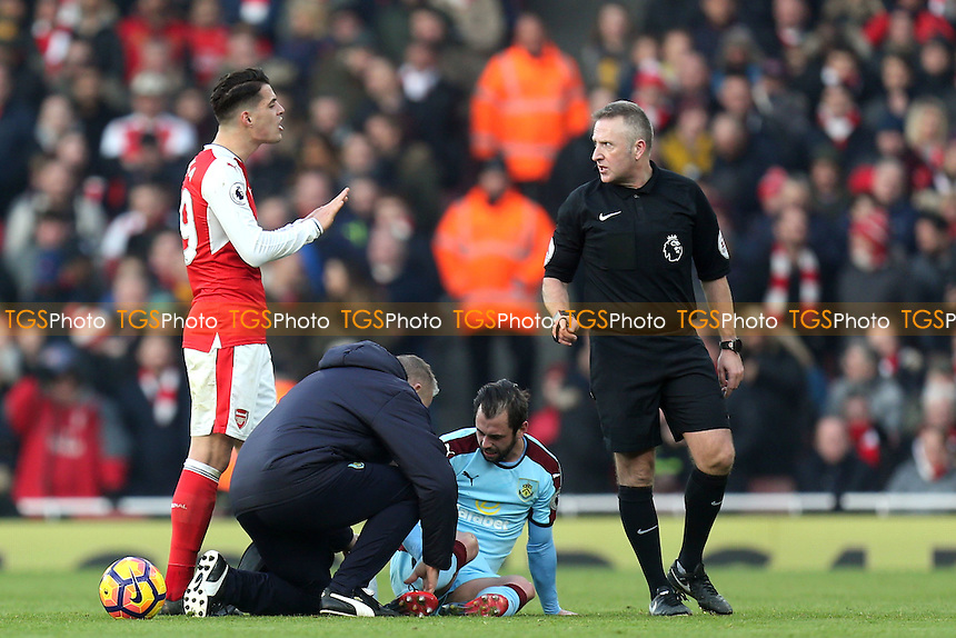 during Arsenal vs Burnley, Premier League Football at the Emirates Stadium on 22nd January 2017