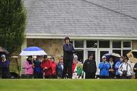 Fiona Flanagan (Tullamore) on the 1st tee during the Final round of the Irish Mixed Foursomes Leinster Final at Millicent Golf Club, Clane, Co. Kildare. 06/08/2017<br /> Picture: Golffile | Thos Caffrey<br /> <br /> <br /> All photo usage must carry mandatory copyright credit      (&copy; Golffile | Thos Caffrey)