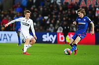 George Byers of Swansea City in action during the Sky Bet Championship match between Swansea City and Bolton Wanderers at the Liberty Stadium in Swansea, Wales, UK.  Saturday 02 March, 2019