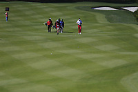 Francesco Molinari (ITA) Louis Oosthuizen (RSA) Ian Poulter (ENG) on the 8th fairway during the 2nd round of the WGC HSBC Champions, Sheshan Golf Club, Shanghai, China. 01/11/2019.<br /> Picture Fran Caffrey / Golffile.ie<br /> <br /> All photo usage must carry mandatory copyright credit (© Golffile   Fran Caffrey)