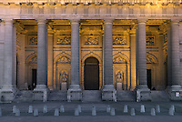 Front porch and entrance,by Giovanni Servandoni, Eglise Saint-Sulpice (St Sulpitius' Church), c.1646-1745, late Baroque church on the Left Bank, Paris, France. Picture by Manuel Cohen