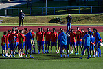Spainsh coach Julen Lopetegui and players,  David De Gea, Sergio Asenjo, Reina, Azpilicueta, Bartra, Carvajal, Monreal, Nacho, Iñigo Martínez, Koke, Thiago, Sergi Roberto, Isco, Busquets, Lucas Vázquez, Vitolo, Herrera, Aritz Aduriz, Nolito, Mata, Callejón, Morata, Silva during the training of the spanish national football team in the city of football of Las Rozas in Madrid, Spain. November 10, 2016. (ALTERPHOTOS/Rodrigo Jimenez)