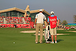 Martin Kaymer prepares to play his 3rd shot on the 18th hole during the Final Day Sunday of the Abu Dhabi HSBC Golf Championship, 23rd January 2011..(Picture Eoin Clarke/www.golffile.ie)
