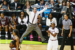 DALLAS, TX - APRIL 2: Head coach Vic Schaefer of the Mississippi State Lady Bulldogs reacts to a call during the 2017 Women's Final Four at American Airlines Center on April 2, 2017 in Dallas, Texas. (Photo by Timothy Nwachukwu/NCAA Photos via Getty Images)