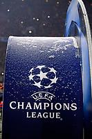 20.02.2018, Football UEFA Champions League 2017/2018, , FC Bayern Muenchen - Besiktas Istanbul, in Allianz Arena Muenchen, Schneefall and Winter in der Arena, das Champions League Logo ist and Schneeflocken bedeckt. *** Local Caption *** © pixathlon