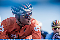 Mathieu Van der Poel (NED) pre race focus<br /> <br /> Men's Elite race <br /> <br /> UCI 2019 Cyclocross World Championships<br /> Bogense / Denmark<br /> <br /> <br /> ©kramon