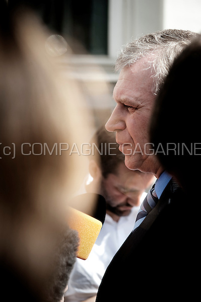 Outgoing Prime Minister Yves Leterme pictured as he arrives in the Wetstraat 16 before the Chamber plenary session in the Belgium parliament (Belgium, 29/04/2010)