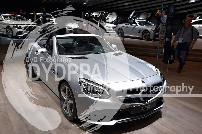 Mercedes SLC 200 auf der Internationalen Automobil-Ausstellung 2017 auf dem Messegelände. Frankfurt am Main, 12.09.2017