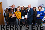 In attendance at the Kerry ETB christmas card competition at the Kerrry ETC Centre in Counterpoint, Tralee on Friday last. L-r Marion Sugrue, Emilia Girasole, Cllr: Jim Finucane (Cathaorleach Chairrai), Ann O'Dwyer (Dir of Schools Kerry ETB), Caoimhe Curran (winner), Fiona Holly, Brendan Culloty (Hugh Culloty Experts Tralee), Pat Thornton and Agna Arl Auskaite.