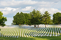 65095-01805 Flags on Memorial Day at Jefferson Barracks National Cemetery, St Louis, MO