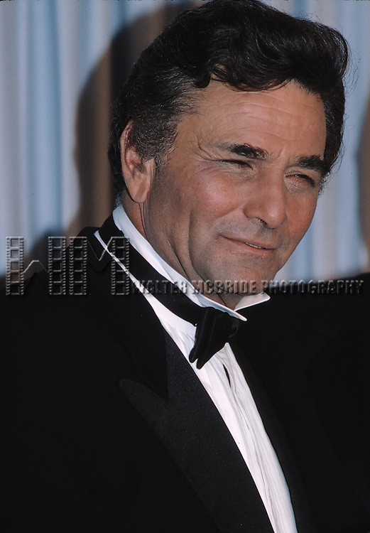 Peter Falk attending the 1985 Emmy Awards in Los Angeles.