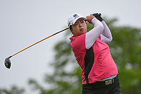 Shanshan Feng (CHN) watches her tee shot on 3 during the round 2 of the KPMG Women's PGA Championship, Hazeltine National, Chaska, Minnesota, USA. 6/21/2019.<br /> Picture: Golffile | Ken Murray<br /> <br /> <br /> All photo usage must carry mandatory copyright credit (© Golffile | Ken Murray)