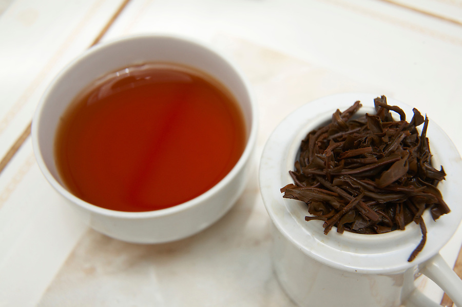 Organic specialty black tea prepared for sampling in Chimate, a small community in the fertile Yungas region of Bolivia.