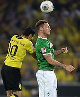 FUSSBALL  1. BUNDESLIGA  SAISON 2013/2014   3. SPIELTAG Borussia Dortmund - Werder Bremen                  23.08.2013 Henrikh Mkhitaryan (li, Borussia Dortmund) gegen Marko Arnautovic (re, SV Werder Bremen)