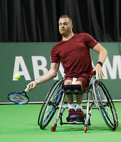 Rotterdam, The Netherlands, 13 Februari 2019, ABNAMRO World Tennis Tournament, Ahoy, first round wheelchair singles, Maikel Scheffers (NED),<br /> Photo: www.tennisimages.com/Henk Koster