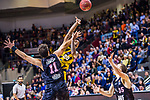 Lamont DaSean JONES (#20 MHP Riesen Ludwigsburg) \Kresimir LONCAR (#11 S.Oliver Baskets Wuerzburg) \Brad LOESING (#35 S.Oliver Baskets Wuerzburg) \ beim Spiel in der BBL, MHP Riesen Ludwigsburg - S.Oliver Baskets Wuerzburg.<br /> <br /> Foto &copy; PIX-Sportfotos *** Foto ist honorarpflichtig! *** Auf Anfrage in hoeherer Qualitaet/Aufloesung. Belegexemplar erbeten. Veroeffentlichung ausschliesslich fuer journalistisch-publizistische Zwecke. For editorial use only.