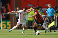 Sheffield United's Enda Stevens (left) battles with Bournemouth's Adam Smith (right) <br /> <br /> Photographer David Horton/CameraSport<br /> <br /> The Premier League - Bournemouth v Sheffield United - Saturday 10th August 2019 - Vitality Stadium - Bournemouth<br /> <br /> World Copyright © 2019 CameraSport. All rights reserved. 43 Linden Ave. Countesthorpe. Leicester. England. LE8 5PG - Tel: +44 (0) 116 277 4147 - admin@camerasport.com - www.camerasport.com