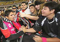 Jaime with fans during festivities surrounding the final appearance of Jaime Moreno in a D.C. United uniform, at RFK Stadium, in Washington D.C. on October 23, 2010. Toronto won 3-2.