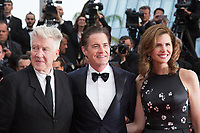 David Lynch, Kyle MacLachlan, Desiree Gruber at the premiere for 'Twin Peaks' at the 70th Festival de Cannes. <br /> May 25, 2017 Cannes, France<br /> Picture: Kristina Afanasyeva / Featureflash