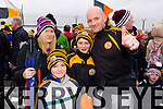 Karen, Luke, Sean and Gavin Pullen, Austin Stacks supporters at the Austin Stacks v Slaughtneil All Ireland Club Football Semi Final in Portlaoise on Sunday.