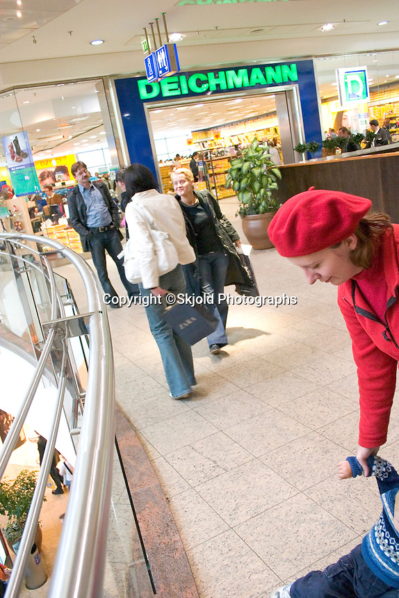 Shoppers at the Galeria.  Lodz   Central Poland
