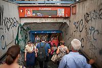 L'entrata della stazione metropolitana di Piazzale Flaminio.<br /> The entrance of Flaminio metro station in downtown