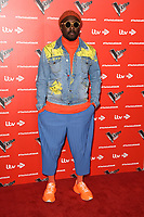 Will.i.Am<br /> at The Voice Kids 2019 photocall, London<br /> <br /> ©Ash Knotek  D3506  06/06/2019