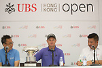 Sam Brazel of Australia gives a press conference after winning the 58th UBS Hong Kong Golf Open as part of the European Tour on 11 December 2016, at the Hong Kong Golf Club, Fanling, Hong Kong, China. Photo by Vivek Prakash / Power Sport Images