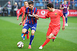 Football match during La Liga between the teams Eibar and Barça<br /> manu fight the ball with bartra<br /> PHOTOCALL3000 / DyD
