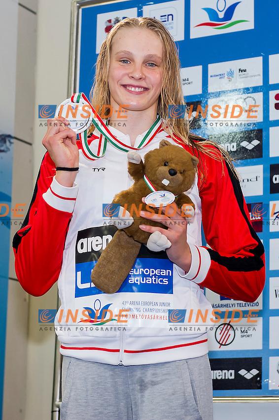 Jensen Julie Kepp DEN<br /> 50 Freestyle Women Final Silver Medal<br /> LEN 43rd Arena European Junior Swimming Championships<br /> Hodmezovasarhely, Hungary <br /> Day04 09-07-2016<br /> Photo Andrea Masini/Deepbluemedia/Insidefoto