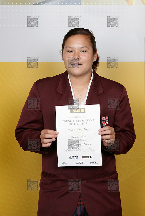 Holly Gardner-Walker, Rosehill College, All Rounder - Softball, Rugby, Wrestling. ASB College Sport Young Sportsperson of the Year Awards 2006, held at Eden Park on Thursday 16th of November 2006.<br />