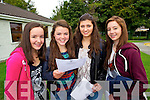 Sinead Sheehan, Sarah-Jo Lynch, Anna Farrell and Anna Jager, Presentation Secondary School, Tralee, pictured with their Junior Cert results on Wednesday morning.