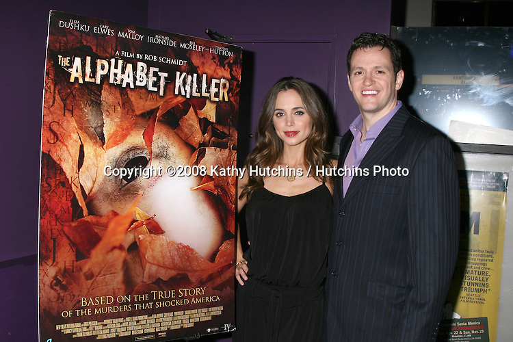 Eliza Dushku  & Tom Malloy arriving at the Alphabet Killer Screening at the Laemmle's Monica 4 Theaters in Santa Monica, CA.November 14, 2008.©2008 Kathy Hutchins / Hutchins Photo....