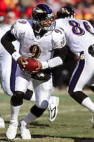 Ravens quarterback Steve McNair in action against the Chiefs at Arrowhead Stadium in Kansas City, Missouri on December 10, 2006. Baltimore won 20-10.