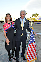www.acepixs.com<br /> <br /> January 282017, Hallandale, FL<br /> <br /> <br /> Carole Crist and Charlie Crist attending The Inaugural $12 Million Pegasus World Cup Invitational, The World's Richest Thoroughbred Horse Race at Gulfstream Park on January 28, 2017 in Hallandale, Florida <br /> <br /> By Line: Solar/ACE Pictures<br /> <br /> ACE Pictures Inc<br /> Tel: 6467670430<br /> Email: info@acepixs.com<br /> www.acepixs.com