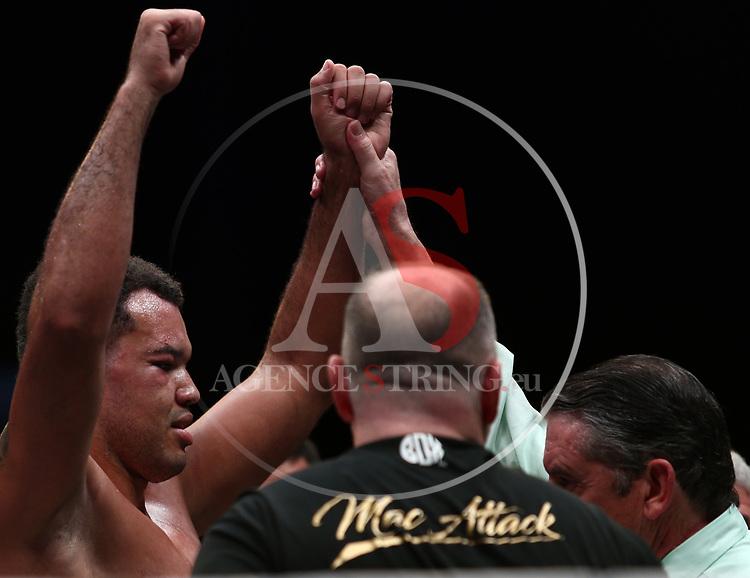 Il Festival dello Sport 2019 - Trento Boxing Night, on October 12, 2019, in Trento, Italy. Fabio Turchi (ITA) vs Tommy McCarthy (IRE). Victory for Tommy McCarthy.   Photo: Pierre Teyssot / RCS<br /> <br /> www.pierreteyssot.com