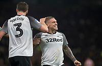 31st January 2020; Pride Park, Derby, East Midlands; English Championship Football, Derby County versus Stoke City; Martyn Waghorn of Derby County celebrates after scoring in the 21st minute 1-0 - Strictly Editorial Use Only. No use with unauthorized audio, video, data, fixture lists, club/league logos or 'live' services. Online in-match use limited to 120 images, no video emulation. No use in betting, games or single club/league/player publications