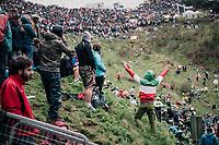 Tifosi up the infamous Monte Zoncolan (1735m/11%/10km)<br /> <br /> stage 14 San Vito al Tagliamento &ndash; Monte Zoncolan (186 km)<br /> 101th Giro d'Italia 2018