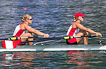 Rowing, 2011 FISA World Rowing Championships, Lake Bled, Bled, Slovenia, Europe, Rowing Canada Aviron, woman's double, Kerry Shaffer (Welland, ON) South Niagara RC, Emily Cameron (Summerside, PEI) Don RC, stroke,