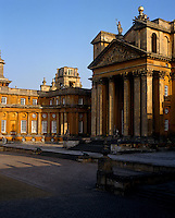 View towards the grand entrance and the private apartments in the east wing of Blenheim Palace