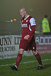 Picture by David Horn/Extreme Aperture Photography +44 7545 970036.18/02/2013.Kenny Clark (Capt) of Chelmsford City is sent off during the Blue Square Bet Blue Square South  League match at Melbourne Stadium, Chelmsford, Essex.