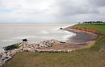 Coastal erosion, East Lane, Bawdsey, Suffolk, England
