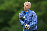 Joe Lyons (Galway) on the 1st tee during the Final of the Barton Shield in the AIG Cups & Shields Connacht Finals 2019 in Westport Golf Club, Westport, Co. Mayo on Saturday 10th August 2019.<br /> <br /> Picture:  Thos Caffrey / www.golffile.ie<br /> <br /> All photos usage must carry mandatory copyright credit (© Golffile | Thos Caffrey)