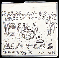 50 years ago - Lennon's original sketch for Sgt Pepper for sale.