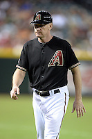 Arizona Diamondbacks coach Matt Williams (9) during a game against the Washington Nationals at Chase Field on September 28, 2013 in Phoenix, Arizona.  Washington defeated Arizona 2-0.  (Mike Janes/Four Seam Images)
