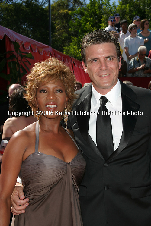 Alfre Woodard & husband.58th Primetime Emmy Awards.Shrine Auditorium.Los Angeles, CA.August 27, 2006.©2006 Kathy Hutchins / Hutchins Photo....