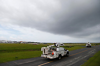 Crews preparing for Hurricane Dorian at the St. Augustine, St. John's Airport Staging Site in St. Augustine, Fla. on September 3, 2019.
